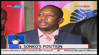 Gubernatorial Aspirant Mike Sonko declares the results announced in Starehe are not final