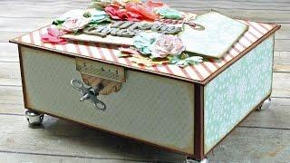 How To Mat & Embellish The Large Keepsake Box