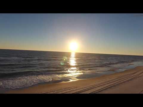 Inlet Beach Florida Sunset Aerial January 2017