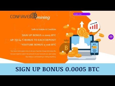 Confiavelmining Company отзывы 2019, обзор, cryptocurrency mining, Signup Bonus 0.0005 BTC + BOUNTY