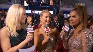 Elisha Cuthbert Red Carpet Interview - AMA 2012