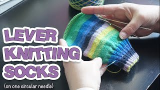 Lever knitting a sock on one circular needle (magic loop style) | Part 1