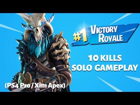 13 Kill Solo win on Fortnite with XIM Apex - смотреть онлайн