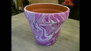 Swirling(Large Terracotta Flower Pot Swirl)
