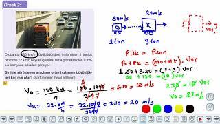 Eğitim Vadisi 11.Sınıf Fizik 12.Föy İtme ve Çizgisel Momentum 1 Konu Anlatım Videoları