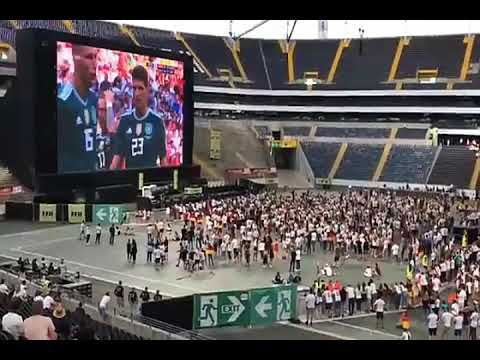 Angry German fans react after losing against South Korea