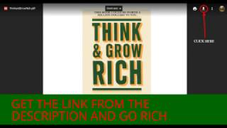 """Download the ebook How to """"Think and grow rich"""" pdf And Start Your Way To Wealth"""