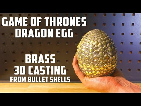 Casting Brass Game Of Thrones Dragon Egg