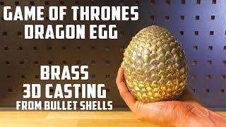 Casting Brass Game Of Thrones Dragon Egg - Video Youtube