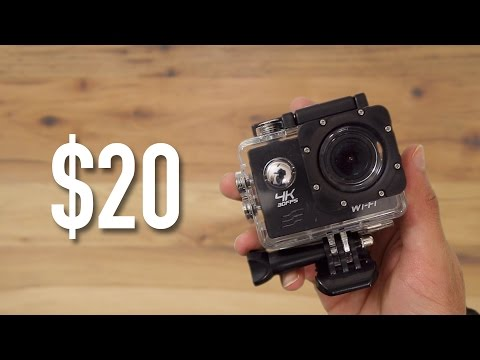 $20 4k Action Cam Review - Is it Worth it? | $20 GoPro | 4K