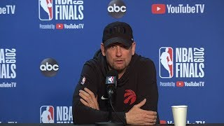 Nick Nurse Full Interview - Game 6 Preview | 2019 NBA Finals Media Availability