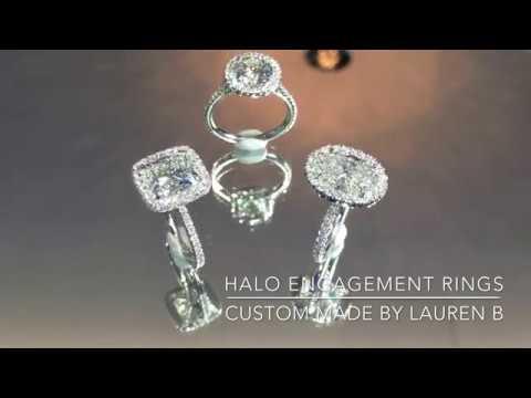 Lepozzi Collection Diamond Halo Engagement Rings