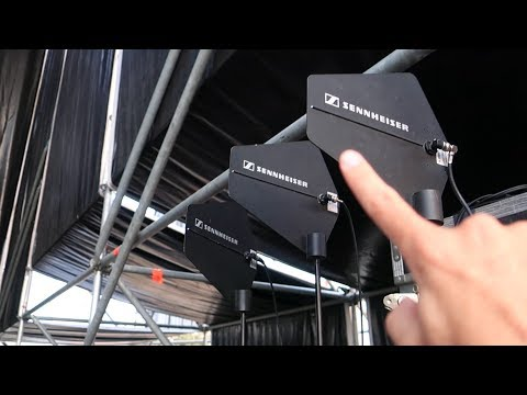 IN-EAR MONITORING - Conexión de los equipos - TRANSMISOR, COMBINER, ANTENA y RECEPTOR