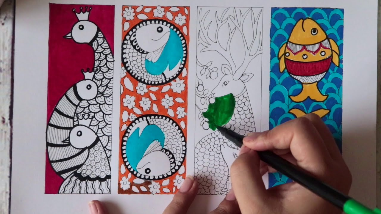 madhubani painting for beginners by art geek
