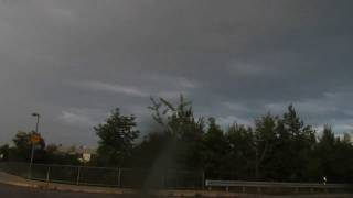 preview picture of video 'Starkes Gewitter / Unwetter / Strong Thunderstorm am  24.08.2011  - Mittendrin'