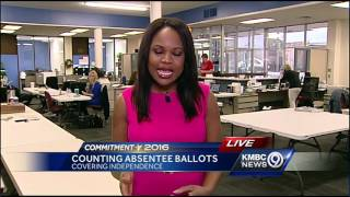 Jackson County begins counting absentee ballots