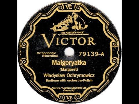 Polish 78rpm recordings, 1925. VICTOR 79139. Bolszewik / Małgorzatka