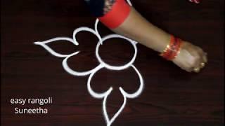Easy Free Hand Rangoli Kolam Designs By Suneetha     Simple Cute Arts    Latest Muggulu