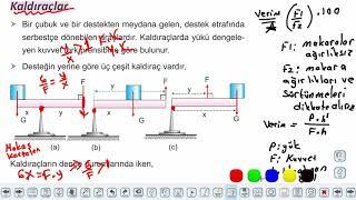 Eğitim Vadisi 11.Sınıf Fizik 15.Föy Basit Makineler 1 Konu Anlatım Videoları