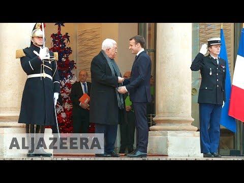 France's Macron meets Palestine's Abbas