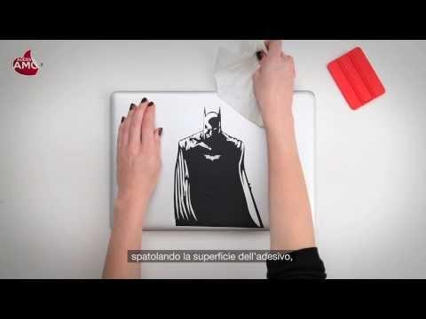 "Tutorial applicazione Macbook Sticker ""Batman"" - Vinyl Decal - Prodotto Adesiviamo"