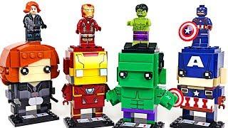 We envy Super Wings Block play! Marvel Avengers Lego BrickHeadz Hulk, Iron Man! - DuDuPopTOY