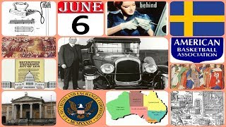 TODAY IN HISTORY - 06 JUNE - ON THIS DAY HISTORICAL EVENTS