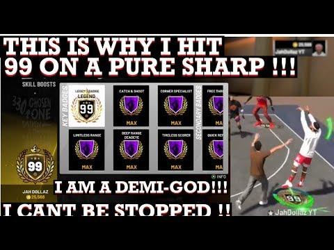 NBA 2K19 - Ruffles Looking 4 Pure Shooters Max Badges - смотреть