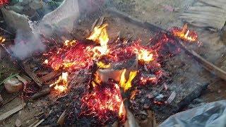 Cháy... cháy rồi...... HẬU TRƯỜNG Em Gái Sóc Trăng nướng gà.... cười té xỉu luôn