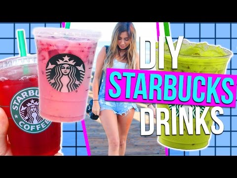 Video DIY Starbucks Drinks for Summer!! 3 Refreshing Drink Ideas!