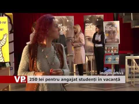250 lei pentru angajat studenți în vacanță