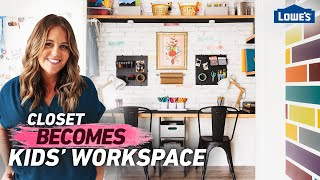 Transform Closet Into Kids Workspace | Home Becomes (Ep 4)