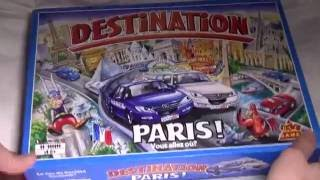 Destination Paris Game box contents detailed see through
