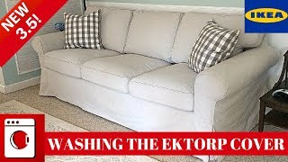 WASHING THE IKEA EKTORP 3.5 COVER | KID AND PET FRIENDLY COUCH