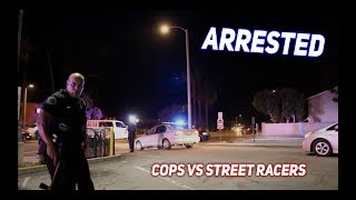 COPS SHOOT RUBBER BULLETS & TEAR GAS AT STREET RACERS! Takeover Turns Into RIOT! [I Got Arrested]