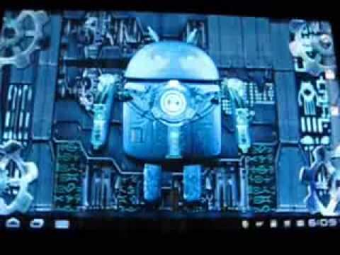 Video of Steampunk Droid Live Wallpaper