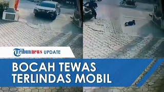 Detik-detik Bocah Terlindas Mobil di Padang hingga Tewas, Insiden Terekam CCTV Masjid