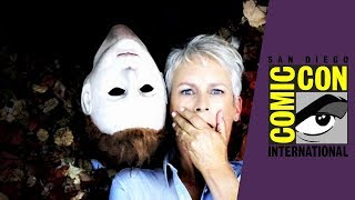 Jamie Lee Curtis Comforts Halloween Fan At Comic Con 2018