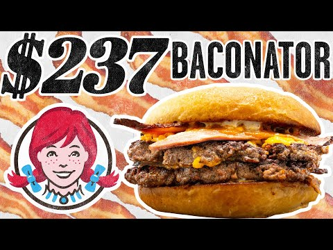 Download $237 Wendy's Baconator Taste Test | FANCY FAST FOOD HD Mp4 3GP Video and MP3