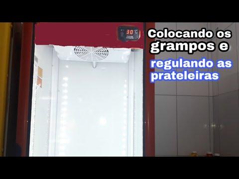 284 - Regulando as prateleiras, geladeira VRS16 IMBERA