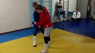 Самбо дзюдо тренировка 08 02 2019 ДЮСШ 9 тр Юрицын С В