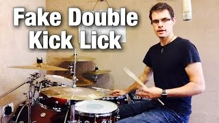 Fake Double Kick Lick (Alternating Singles)   Drum Lesson