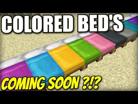 Minecraft PS4 - COLORED BEDS - COMING SOON ?!? Xbox / PS3 / Wii U