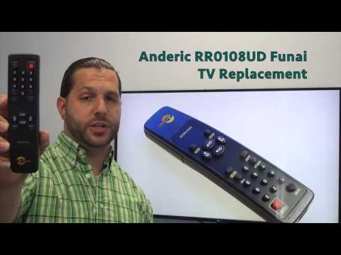 ANDERIC RR0108UD Funai TV Remote Control