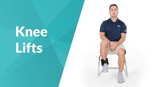 Seated Knee Lift Exercise