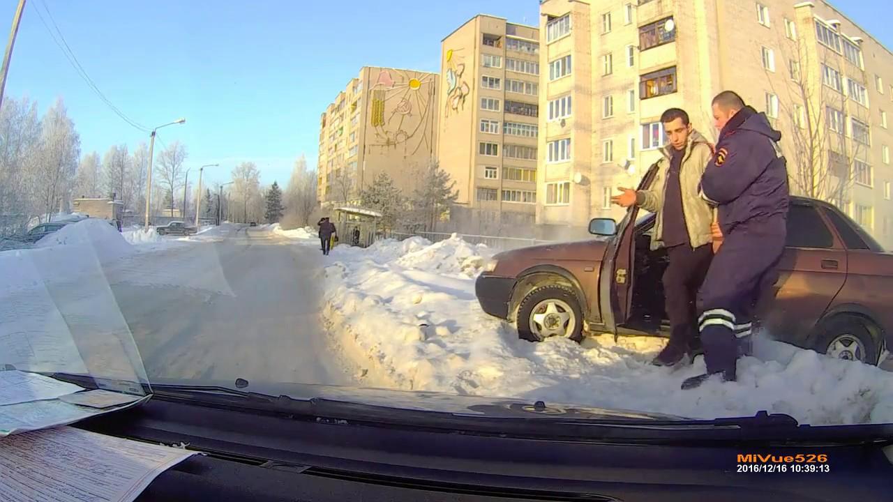 Погоня за пьяным водителем в Кимрах