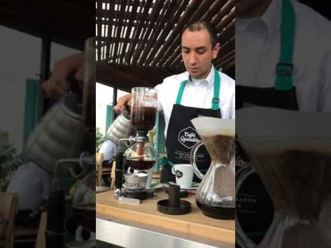 How to make Siphon coffee in COLOMBIA!!