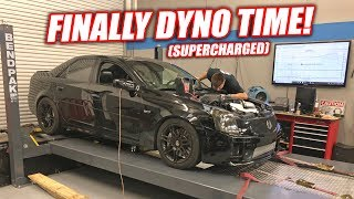 Our Newly LSA Supercharged CTS-V1 Hits the Dyno! HOW MUCH POWWWAA!? (Pump Gas Only)