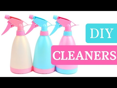HOMEMADE CLEANING PRODUCTS!  5 EASY DIY CLEANERS!  (QUICK & EASY!)