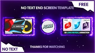 (FREE) 2D Endscreen Template (No Text) - After Effects, Sony Vegas, Blender, Mobile, Premiere Pro #8